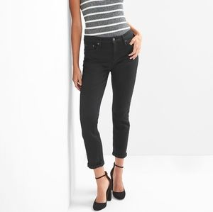 GAP Best Girlfriend Jeans - Black Mid Rise